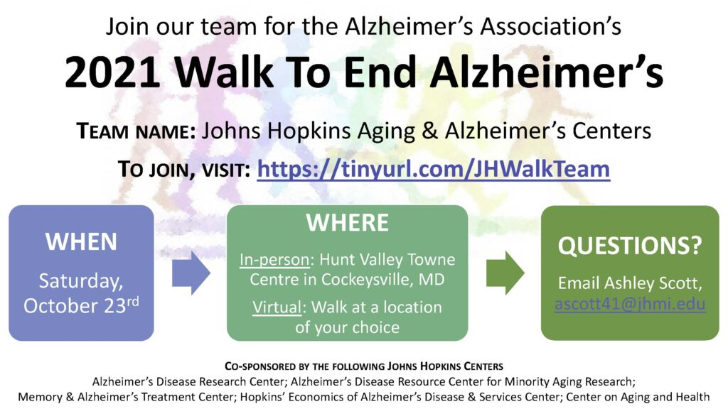 Walk to End Alzheimers Flyer